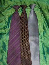 3 Clip On Ties, Mixed Brands & Styles