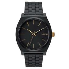 Nixon Time Teller Black Dial Matte Black / Gold Men's Watch A0451041 A045-1041