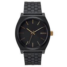 Nixon Time Teller Black Dial Matte Black Gold Men's Watch A0451041 A045-1041