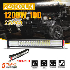"CURVED 22"" 1200W LED WORK LIGHT BAR SPOT FLOOD COMBO TRUCK OFFROAD 20"" 24 32"""