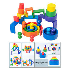 Wooden Rainbow Montessori Learning Educational Game Early Educational Toys
