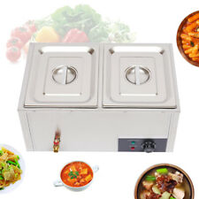 Commercial Food Warmer Electric Steam Table Countertop Bain Marie 2 Pots 850w