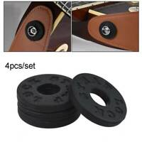 4*Electric Guitar Strap Blocks Rubber Bass Guitar Strap Lock Guitar Accessories