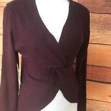 "Women's Medium Almost Famoust the ""Twista"" Sweater wear it 2 ways Nwt! maroon"