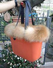 Bordo vera volpe rossa naturale o bag mini compreso di charm soli 34,99 e