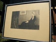 """Wonderful Print """"WHISTLER'S MOTHER"""" in Wood Frame 10"""" X 13"""""""