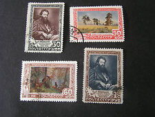 *RUSSIA, SCOTT # 1230-1233(4), COMPLETE SET 1948 SHISHKIN ARTIST ISSUE USED