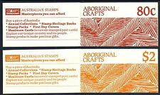 1987 Aboriginal Crafts 80c & $2 booklets pair.Superb cond. CV: $14 • FREE POST