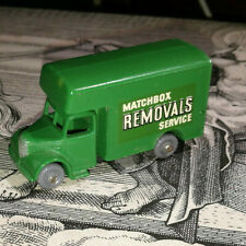 MATCHBOX LESNEY. 17.Bedford Removals.   DARK GREEN.50s.