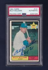 Billy Williams signed Chicago Cubs 1961 Topps rookie baseball card Psa/Dna