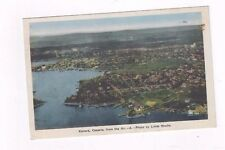 CANADA Ontario antique 1938 post card Air View of Kenora