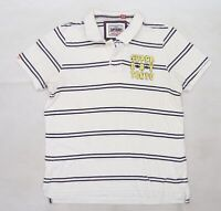 Superdry Mens White Striped Knit  T-Shirt Size 2XL