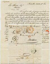 1844 LETTER TRANSATLANTIC PACKET SHIP FRANCE via LIVERPOOL to BOSTON ...L DE 3 H