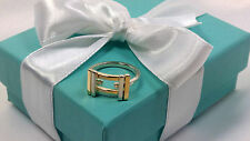 NEW Tiffany & Co. Frank Gehry Axis Ring Size 9 Gold 18k Sterling Silver 925