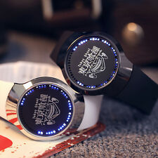 Anime Tokyo Ghoul LED Touch Screen Electronic Watch Glass Strap Wristwatch Gift