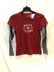Kansas City Chiefs throwback Dallas Texans ladies long sleeved shirt-Large-NWT