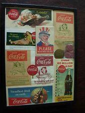 Coca Cola Vendor Pin, Blotters, Drip Bags, Bottle Markers Vintage Coke ORIGINAL