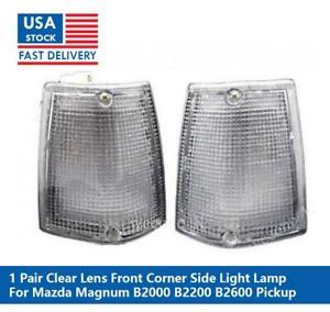 CLEAR FRONT SIDE CORNER LIGHT LAMP FOR MAZDA MAGNUM B2000 B2200 B2600 PICKUP