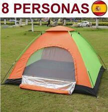 TIENDA DE CAMPAÑA PARA 8 PERSONAS IMPERMEABLE CAMPING CARPA SUPER OFERTA