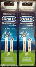 4 ORAL-B CROSS ACTION Replacement Toothbrush Brush Heads Refills Professional
