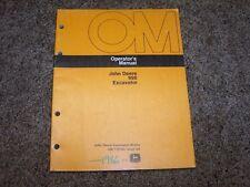 John Deere 990 Excavator Factory Operator Owner User Guide Manual OM T79784