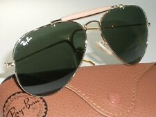 ITALY RAY-BAN L0216 58[]14 G15 UV WRAP-AROUNDS OUTDOORSMAN AVIATOR SUNGLASSES