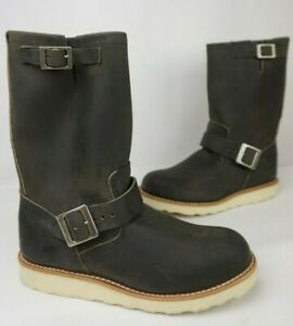 """Red Wing 11"""" Engineer 2989 Men's Charcoal Rough & Tough Leather Boots Size 7 D"""
