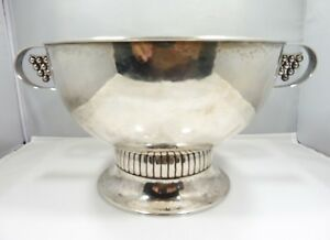 STRIKING SWEDISH ART DECO GULDSMEDSAKTIEBOLAGET 830 SILVER ALLOY BOWL 1927