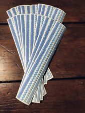 20 sheets Mrs Grossmans Manor House Fashion Fabrics Stickers Blue Rick Rack
