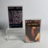 Bon Jovi 7800 Fahrenheit And Slippery When Wet Cassette Tapes X 2 Bundle