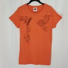 NEW Harley Davidson Deadwood South Dakota Short-Sleeve Tshirt Top Orange Size