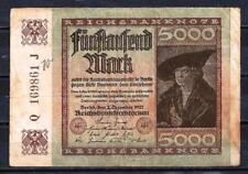 Allemagne  - Germany billet de 50000 mark (2) pick 81a 2 décembre 1922 Very Fine