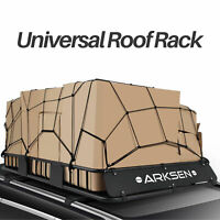 """64"""" Universal Roof Rack Cargo Carrier w/ Extension Luggage Basket SUV Cargo Net"""