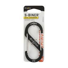 Nite Ize S-Biner Dual Carabiner #4 Aluminum Charcoal Locking Dual-Gated (6-Pack)