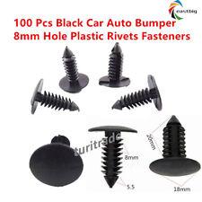 100Pcs 8mm Hole Plastic Rivets Fastener Push Clips Clip for Car Auto Fender