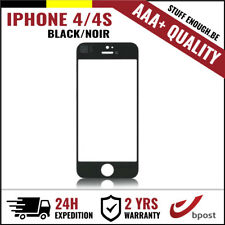 AAA+ FRONT GLASS/FRONT GLAS/VERRE AVANT BLACK FOR IPHONE 4/4S