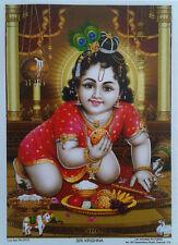 """Shri Sri Krishna, Laddoo Gopal - Normal Paper POSTER (Size: 5""""x6.5"""")"""