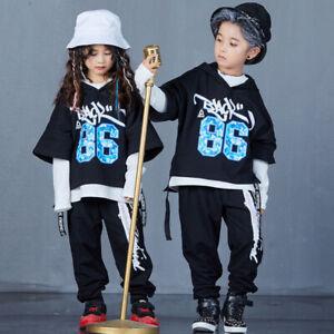 Street Dance Wear Costume Modern Dance Kids Children Hip Hop Clothes