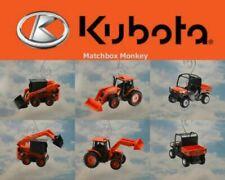 Tracteurs miniatures orange en plastique