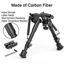 Rifle Bipod Swivel Mount Tactical Hunting Sniper Adjustable Lightweight Black