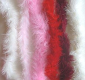 Marabou Feather Trims - CUT TO ORDER - Red - Pink - Wine - White - Ivory