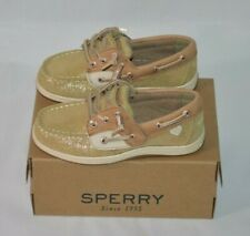 Sperry Songfish Jr. Linen/Gold Toddler Girls Size 10.5W