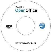 APACHE Open Office 4 Professional Business suite di Windows XP VISTA WIN 7 8 8.1 10