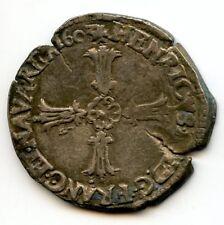 Henri IV (1589-1610) Quart d'écu 1603 T Nantes