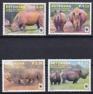 Botswana 2011 WWF Fauna Rhinoceros 4 MNH stamps