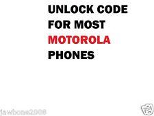 FACTORY UNLOCK CODE SERVICE MOST NETWORK MOTOROLA PHONES MOTO X XT907 DEFY ATRIX