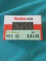 50 x Fischer Schrauben PZ 2 5,0x35 Neu & OVP