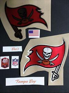 Tampa Bay Bucs chrome NFL Helmet Decal Set w/40 seasons decal...tacm