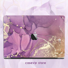 Seductive Purple Gold Marble Matte Case For Macbook Pro Air 11 12 13 15 16 inch