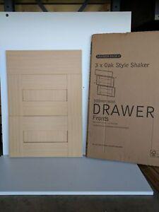 OAK STYLE SHAKER KITCHEN DOORS DRAWERS WALL  BASE 500mm 3 PAN DRAWER PACK C